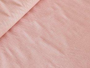 Bavlněné plátno Lněný efekt - starorůžová