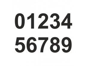 číslaARIALčerná