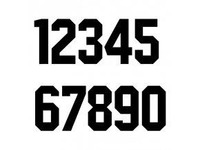 číslaCOLLEGEčerná