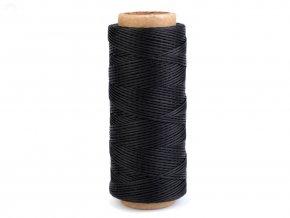 Voskovaná polyesterová nit 1 mm (100m) - černá