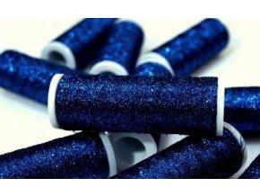 Lurexová vyšívací nit Metalux 60m / 305 - tm. modrá