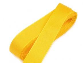 Taftová stuha - šířka 20 mm x 10 m / 207 - žlutá