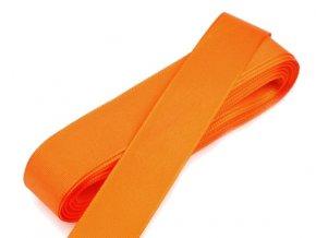 Taftová stuha - šířka 20 mm x 10 m / 617 - oranžová