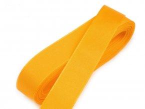 Taftová stuha - šířka 20 mm x 10 m / 211 - sv. oranžová