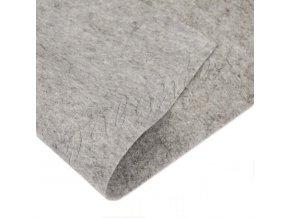 Látková dekorativní plsť 20x30cm - šedá melanž