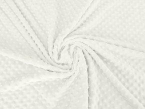 Minky s vytlačovanými puntíky - bílé