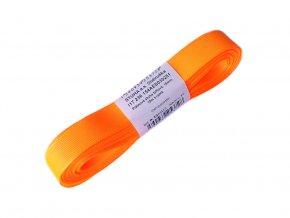 Taftová stuha - šířka 15 mm x 10 m / 251 - oranžová neonová