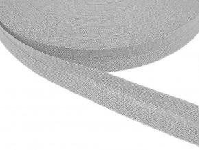 Šikmý proužek bavlněný šíře 14 mm - sv. šedý