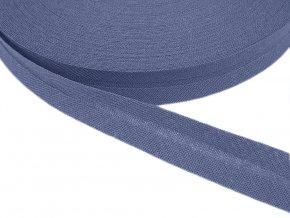 Šikmý proužek bavlněný šíře 14 mm - fialovomodrý