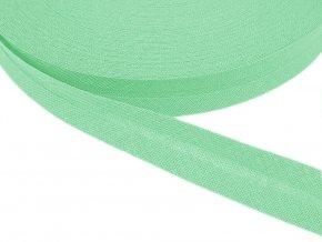 Šikmý proužek bavlněný šíře 14 mm - mentolová