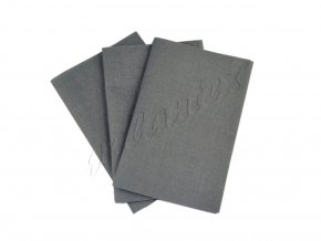 Zažehlovací záplaty plátno - šedá tmavá