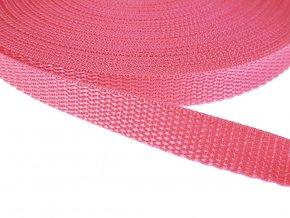 Popruh polypropylénový šíře 15 mm - růžový