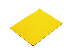 Látková dekorativní plsť 20x25 cm - žlutá