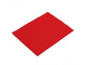 Látková dekorativní plsť 20x25 cm - červená