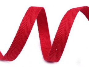 Keprovka - tkaloun šířka 10mm / červená