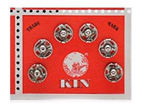 Patentky KIN průměr 7,5 mm / 6 kusů - stříbrné
