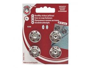 Patentky KIN průměr 19 mm / 4 kusy - stříbrné