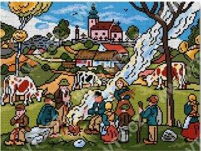 Předloha vyšívací 30 x 40 cm - Josef Lada podzim
