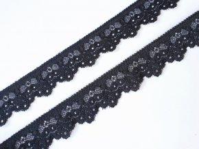 Krajka elastická 29 mm - černá