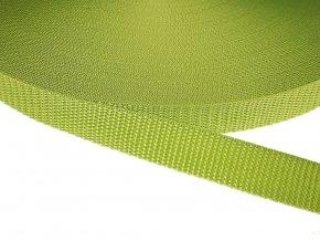 Popruh polypropylénový šíře 20 mm - zelená jablková