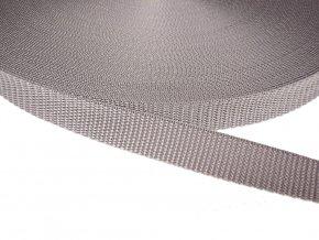 Popruh polypropylénový šíře 20 mm - šedá