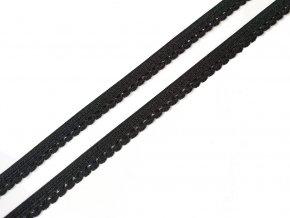Pruženka prádlová 9 mm - černá