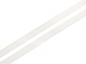 Pruženka plochá pletená 10 mm - bílá