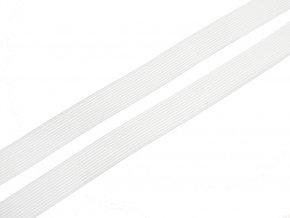Pruženka plochá pletená 20 mm - bílá