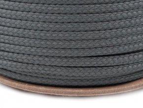 Oděvní šňůra PES 4 mm - šedá tmavá
