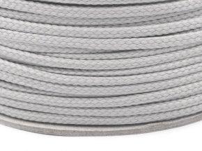 Oděvní šňůra PES 4 mm - šedá světlá