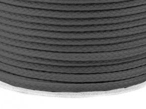 Oděvní šňůra PES 4 mm - šedá ocelová