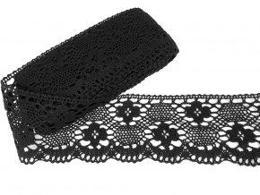Bavlněná krajka paličkovaná 100 mm - černá