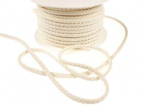 Oděvní šňůra bavlněná 6 mm - režná