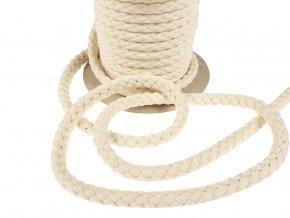 Oděvní šňůra bavlněná 9 mm - režná