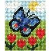 Sada vyšívací 17 x 20,5 cm - Motýl