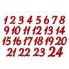 Nažehlovací potisk - adventní čísla 4 cm
