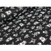 Bavlněné plátno - Lebky na černé