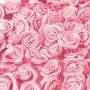 Růžička saténová 10 mm (10 kusů) - růžová