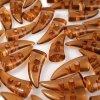 Knoflíky plastové Rohy 25mm - hnědé