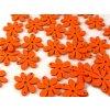 Dřevěné korálky / výsek 20x25mm  květinka - oranžová