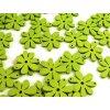 Dřevěné korálky / výsek 20x25mm  květinka - zelená