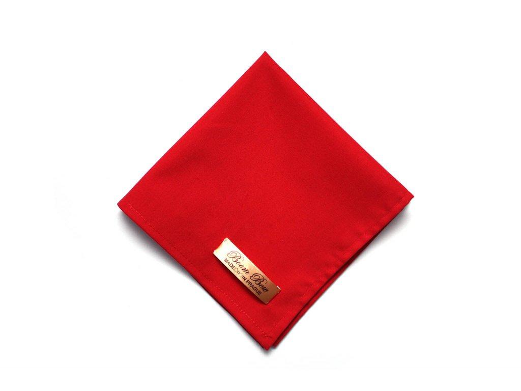 1568 cerveny bavlneny kapesnicek do kapsy