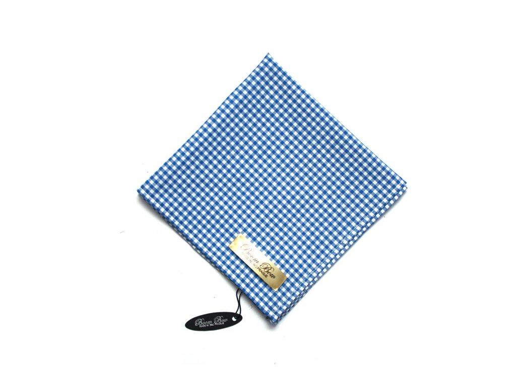 1838 modro bily kostkovany kapesnicek