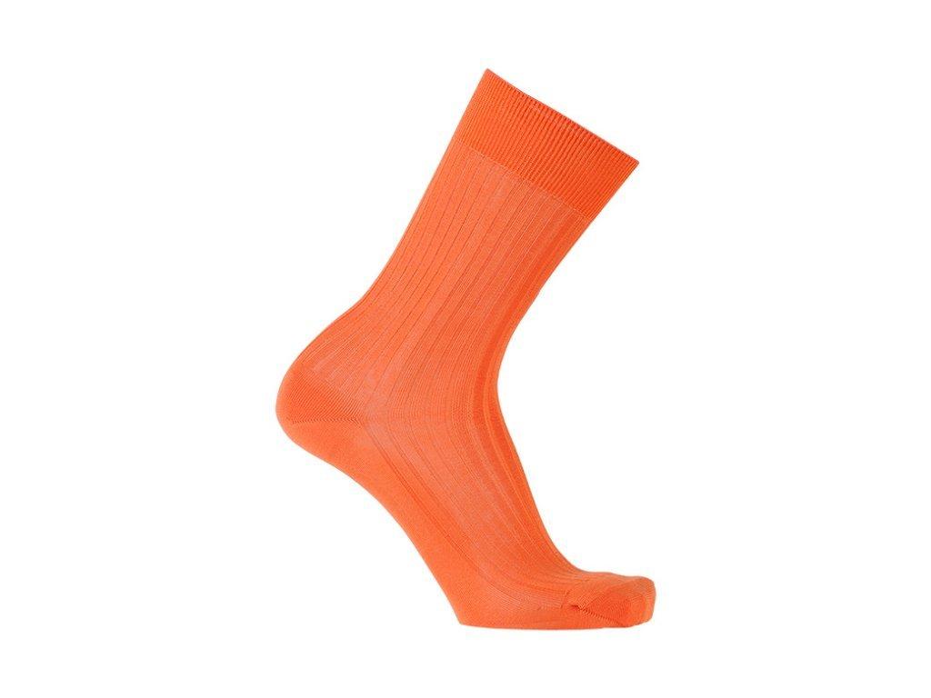 Oranžové ponožky Bexley (Velikost pono FR 45-46, UK 11-12, US 12-13)