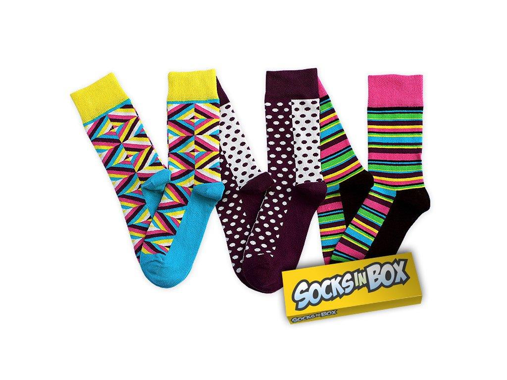 Barevné unisex ponožky CANDY (Velikost pono 36-40)