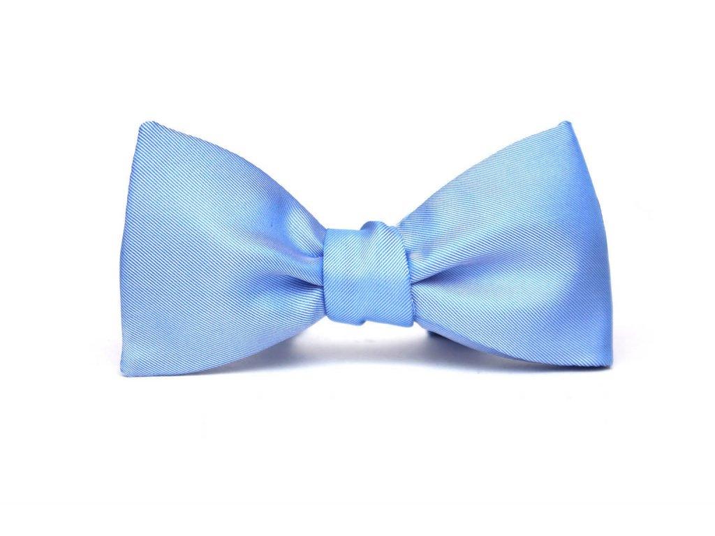 Modrý vázací motýlek z hedvábí 201 1