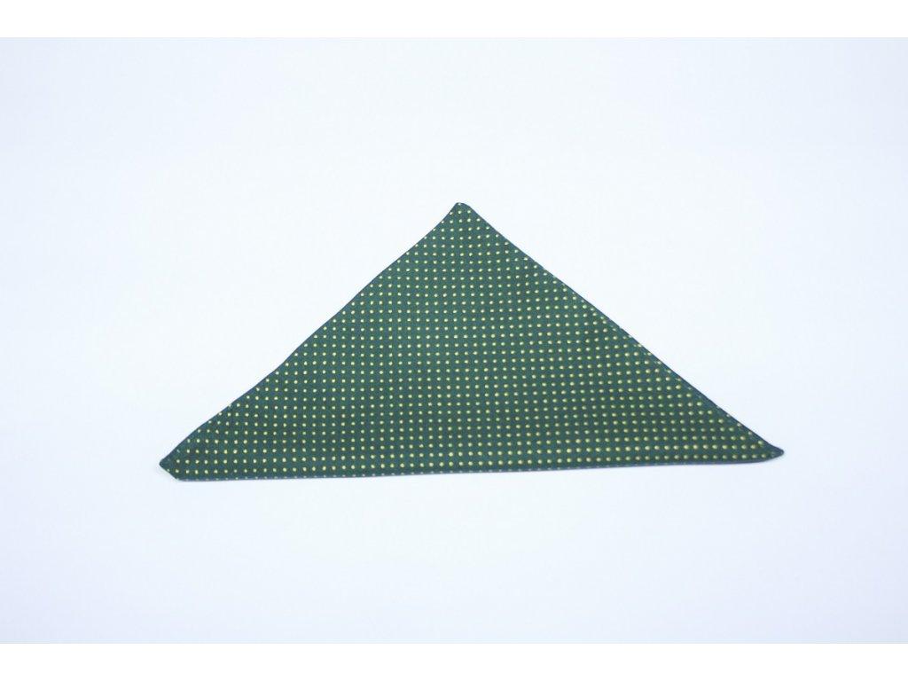 kapesníček zelený s puntíky Galantier 2 edited