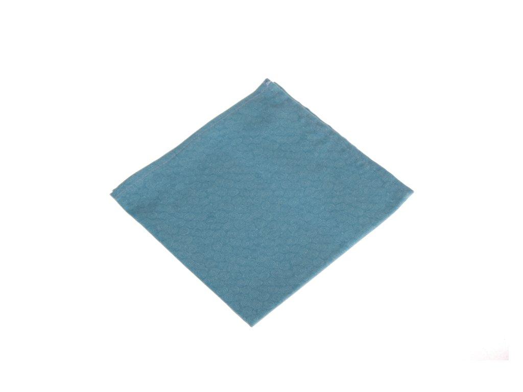Tyrkysový kapesníček s motivem spirálek
