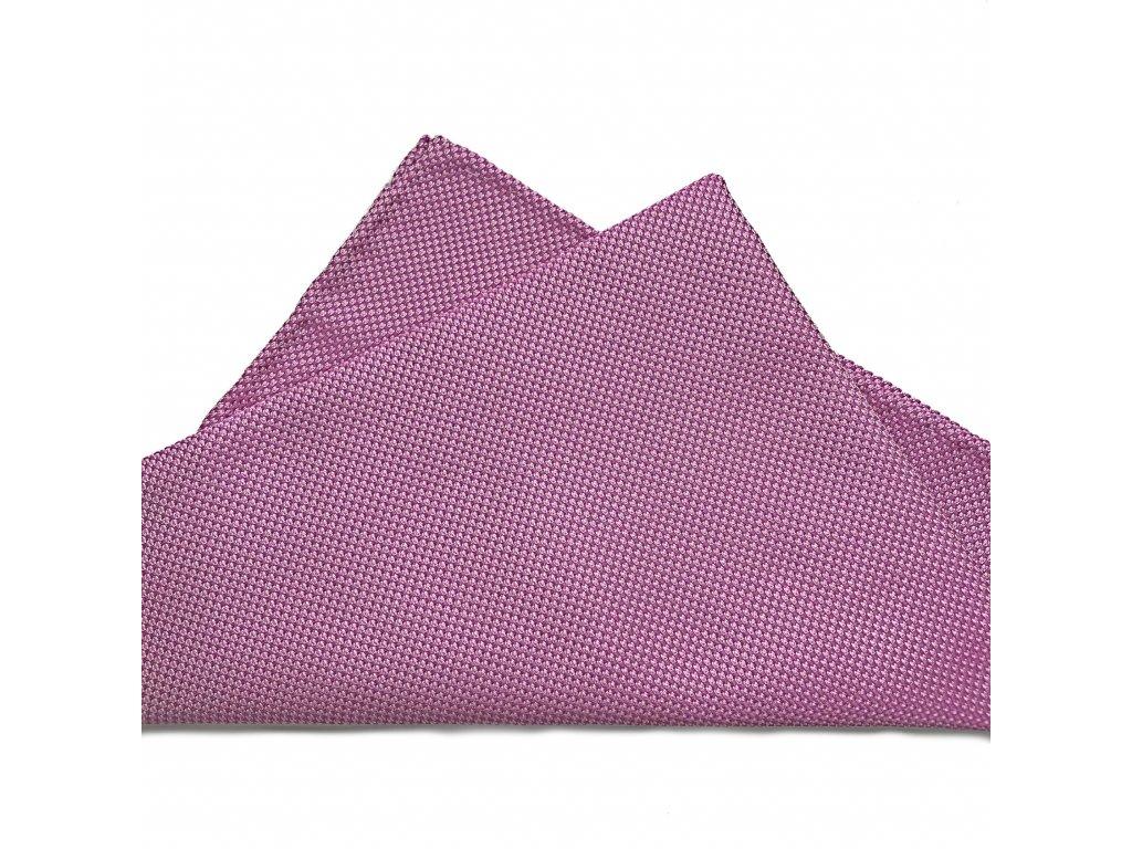 Světle fialový hedvábný kapesníček 01