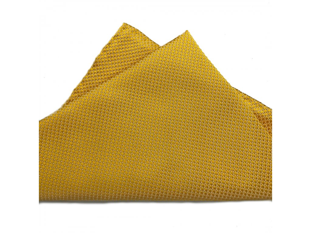 Žlutý hedvábný kapesníček 01